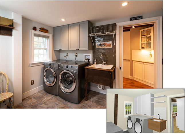laundry room Remodel in Litchfield County CT | HVP | 860.592.0500